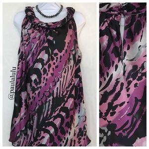 Twisted Neck Tank Top Flowy Soft Fabric